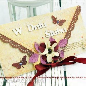 kopertówka z okazji ślubu-czerwcowe motyle - ślubna, kopertówka, kartka