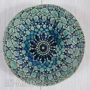 koronkowa miseczka, miseczka ceramiczna, ceramiczna miska