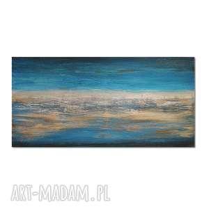 horizon, abstrakcja, nowoczesny obraz ręcznie malowany, obraz, autorski