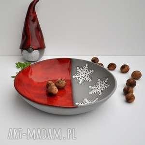 świąteczna misa ceramiczna, ceramika, misa, patera, prezent, ozdoba, święta