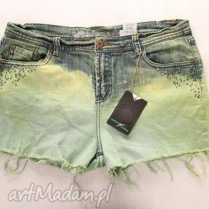 spodnie spodenki barwione diy ćwieki, spodnie, spodenki, szorty, ombre, kolorowe