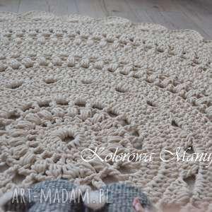 dywan ażur 120cm - bawełniany, dywan, ażur, chodnik, dywanik, serwetka