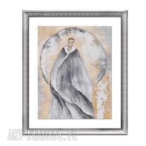 Amara, obraz ręcznie malowany, obraz, ręcznie, salon, postać
