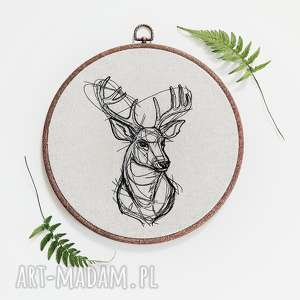jeleń - ,jeleń,las,góry,natura,haft,obraz,