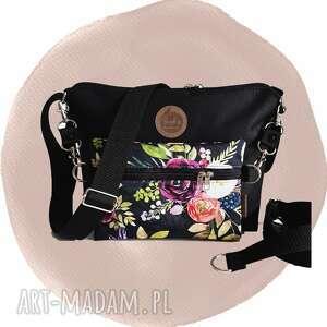 torebki torebka modułowa black 4w1 - flowers, modułowa