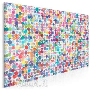 obraz na płótnie - kolory kropki plamki 120x80 cm (83701)