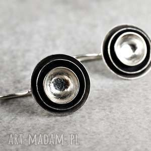 925 Srebrne kolczyki koła 3D, srebro, srebrne, 925, kobiece, lekkie, eleganckie