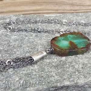Naszyjnik srebrny z przepięknym agatem naszyjniki treendy