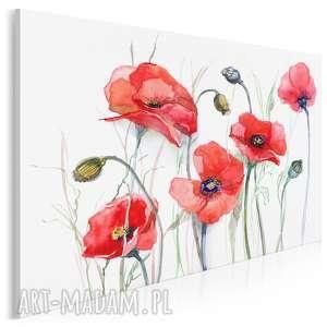 Obraz na płótnie - MAKI KWIATY 120x80 cm (14301), maki, kwiaty, rośliny, łąka