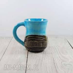 ceramika kubek ceramiczny sgraffito, prezent, dla mamy, pod choinkę, taty