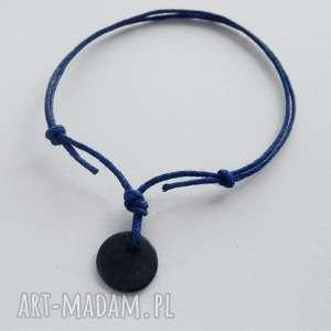 katarzyna kaminska okrąg bransoletka, srebro, oksydowane, sznurek biżuteria