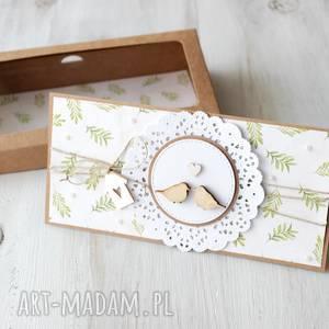 kartka na ślub - ptaszki - wesele