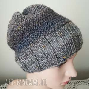 Prezent Urokliwy tweed czapka, rękodzieło, styl, prezent, zima