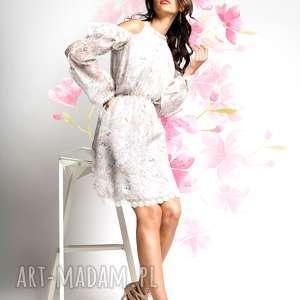 sukienki hana - mała biała jedwabna sukienka
