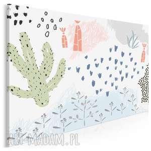 obraz na płótnie - natura pustynia 120x80 cm 62004, pustynia, rośliny, kaktus