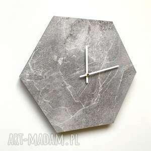 zegary zegar ścienny - designerski kamień, zegar, hexagon, design, zegarek