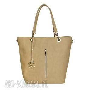MANZANA duża torebka kuferek HOT elegancki beżowy, kuferek, torebka, torba, damska