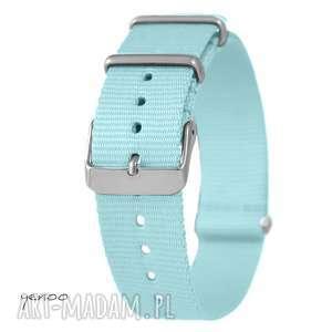 handmade zegarki pasek do zegarka - nato, nylonowy, niebieski