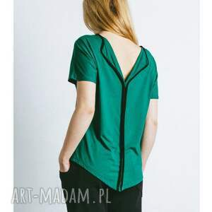bluzka zielona, bluzka, dzianina, wygodna, dzianinowa, tshirt, damska
