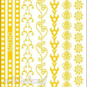 handmade biżuteria zestaw złotych metalicznych tatuaży bransoletek no 2