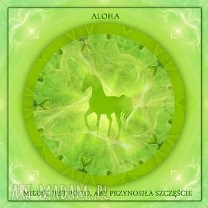 Prezent Obraz - Aloha huna, szklana antyrama, obraz, koń, aloha,