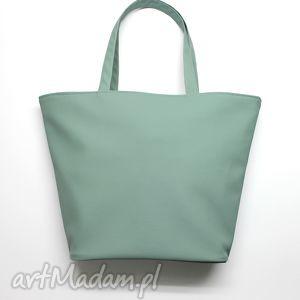 torebki niezwykle shopper bag łódka - mięta, elegancka, nowoczesna, prezent