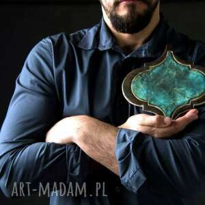 ceramika płytki ceramiczne, ręcznie robione, na zamówienie - arabeska duża