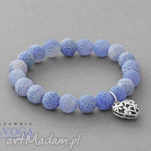 ręcznie robione bransoletki agate with pendant in blue ii