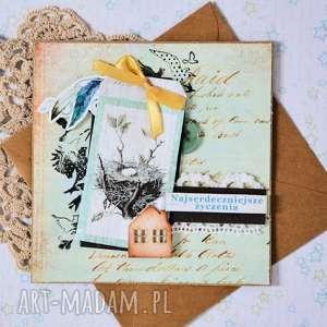 hand made kartki kartka - najserdeczniejsze życzenia