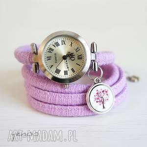 yenoo zegarek, bransoletka - drzewko miłości owijany, fioletowy, zegarek