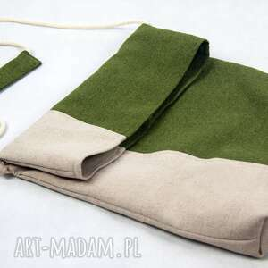 handmade na ramię flor summer green