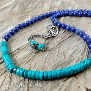 dwa kolory, turkus, howlit, lapis, lazuli, pod choinkę prezent