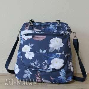 Pomysł na świąteczny prezent! Plecak torba listonoszka - róże