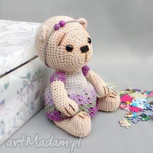 Miśka Marcela, miś, zabawka, przytulanka, bawełniana, dziecko, niemowlę