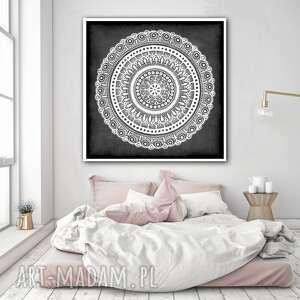 Mandala 50x50cm malgorzata domanska mandala, plakat, etno, folk