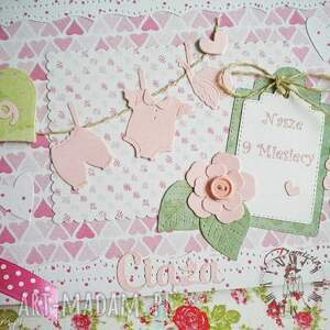 Notes/dzienniczekzapiski z czasu ciąży, ciąża, maluszek, dziewczynka, mama, narodziny