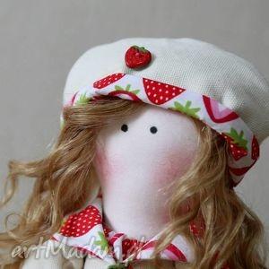 Lalka Truskaweczka - ,lalka,szmaciana,miś,zabawka,prezent,przytulanka,
