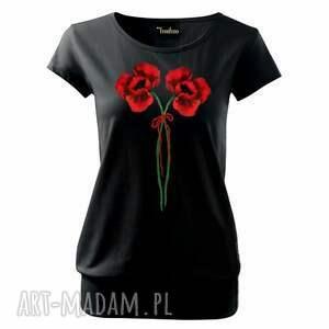ręcznie malowana artystyczna bluzka z bawełny- wygodny fason, koszulka