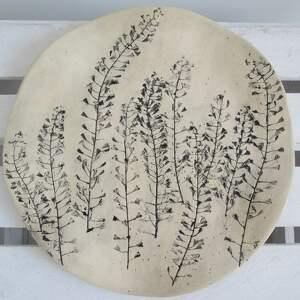 Prezent roślinna patera ceramiczna, ozdobna, talerz, ceramiczny, prezent-ślubny