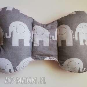 poduszka podróżna słonie / róż, poduszka, motylek, wózek, łóżeczko