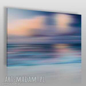 obrazy obraz na płótnie - abstrakcja morze 120x80 cm 36501, morze, mgła, rozmycie