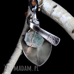 Jaspis kamień naturalny łyżeczka biżuteria wisiorek wisiorki