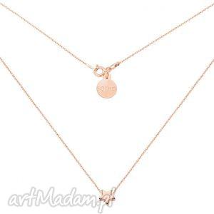naszyjnik z różowego złota delikatną gwiazdką, naszyjnik, różowe, złoto