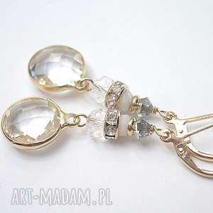 Crystal /08-06-17/ kolczyki, metal, kryształki, szkło, ślub