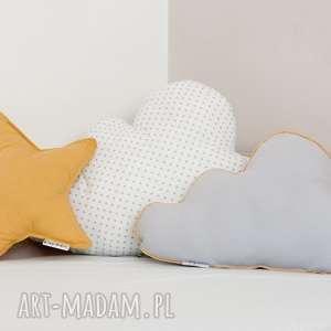 handmade pokoik dziecka zestaw 3 poduch musztardowo-biały