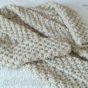 ręczne wykonanie swetry beige chunky