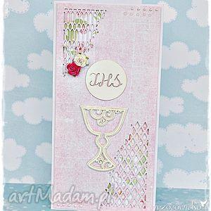 kartka komunijna dla dziewczynki - kartka, komunia, święta, pamiątka, komunii