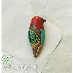 hand made broszki broszka barwny ptak