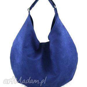 hand-made na ramię hobo blue
