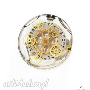 all month long - srebrny pierścionek z elementami zegarka, lucreative watch me